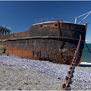 Amadeo Wreck, Patagonia, Chile