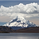Nevado Sajama, as seen from Lago Chungará