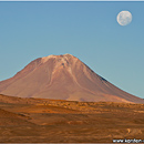 Moon over Chilean Altiplano